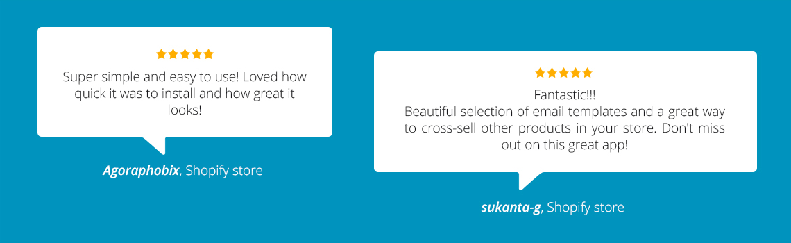 What our users say about our Cross-Selling Emails app!