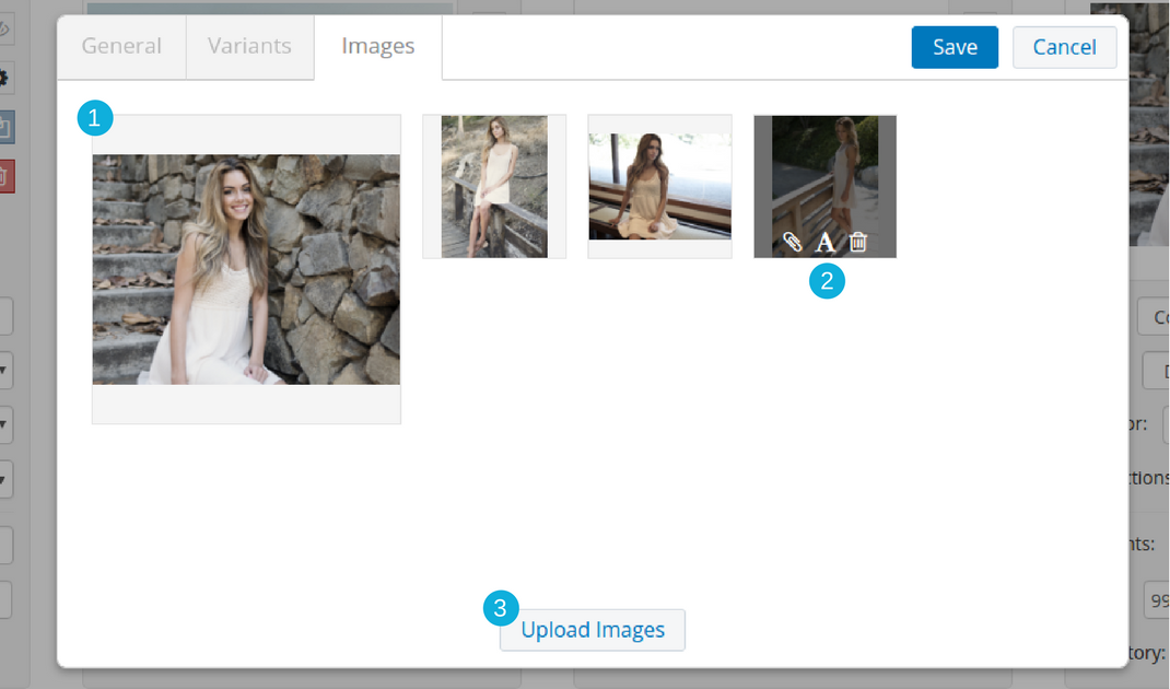 Fast and easy Add / Rearrange / Delete images from shopify product